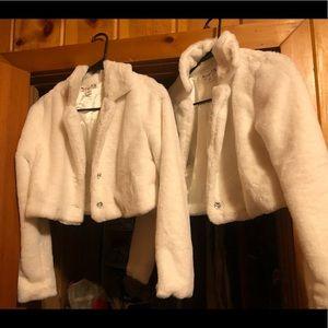 Girls faux fur coats